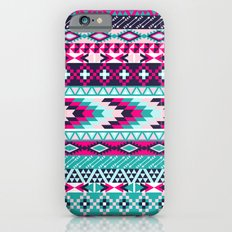 Navy Turquoise Pink Tribal iPhone 6s Slim Case