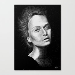 Love Girls - Black Canvas Print