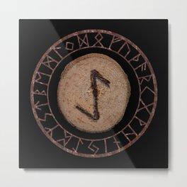 Eihwaz - Elder Futhark rune Metal Print