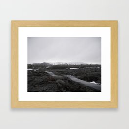 the lonely trail Framed Art Print
