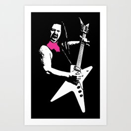 Black Tooth Grin [Pink] Art Print