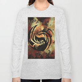 Yin and Yang Dragons Artwork Long Sleeve T-shirt