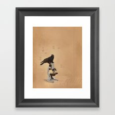 Science Crow Framed Art Print
