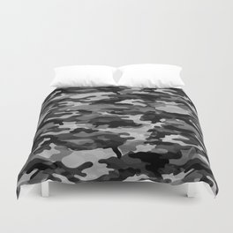 Camouflage (Gray) Duvet Cover
