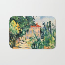 "Paul Cezanne ""House with red roof"", 1890 Bath Mat"