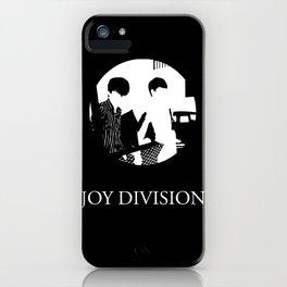 JOY DIVISION - Music | Goth | Indie | Wave | Retro | Vintage | Vector | Black and White | Vinyl  iPhone Case