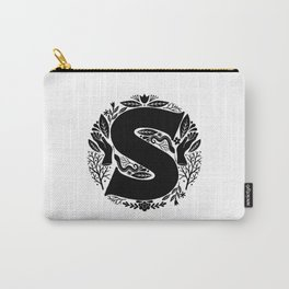 Letter S monogram wildwood Carry-All Pouch