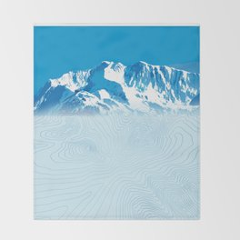 Mt. Alyeska Alaska Throw Blanket