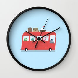 Funny Bus Wall Clock