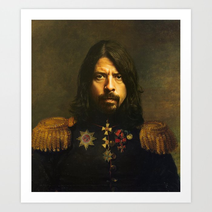Dave Grohl - replaceface Art Print