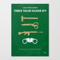 No787 My Tinker Tailor Soldier Spy minimal movie poster Canvas Print