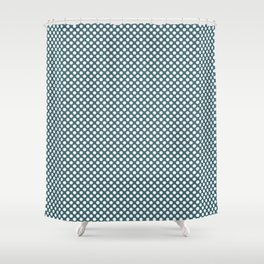 Hydro and White Polka Dots Shower Curtain