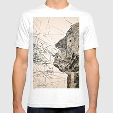 Penser : Expression. MEDIUM White Mens Fitted Tee