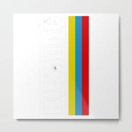Bicycle Diary Metal Print