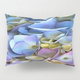 Blue and Pink Hydrangea Flowers  Pillow Sham