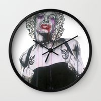 celebrity Wall Clocks featuring Celebrity by R.A.Carrie