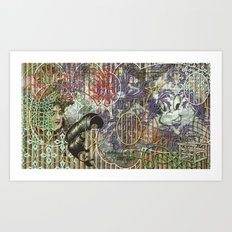 The Set Relationship Between: (A.) An Invisible Woman and (B.) The Ghost Club Art Print