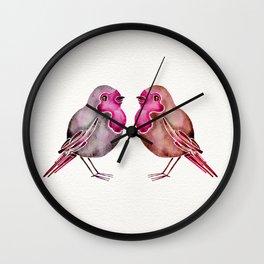 Rosie Birds Wall Clock