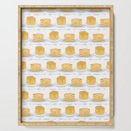 Cute vector homemade pancake day breakfast illustration Serving Tray