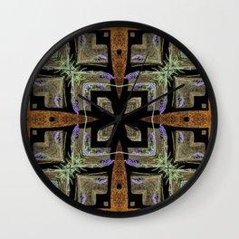 Patterned Lavender - Lavandula Wall Clock