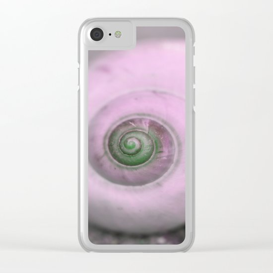 Dream of last summer III - Snail shell in pink Clear iPhone Case