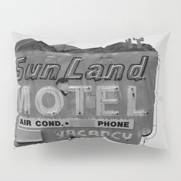 Vintage Neon Sign In Tucson - Sun Land Motel Pillow Sham