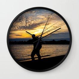 Surf Fisherman Wall Clock