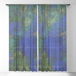 Peacock crystal mosaic Sheer Curtain