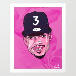 Chance The Rapper 3 / Coloring Book Art Print