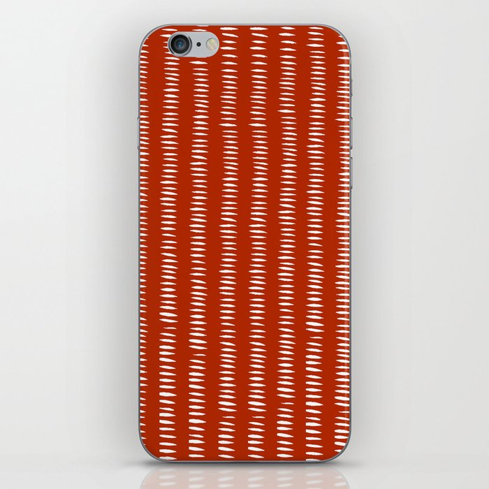 red dashes iPhone Skin