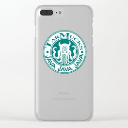 Tarmucks Java - Coporate Coffee House Franchise Clear iPhone Case