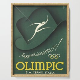 cartello olimpic leggerissimo chapeau Serving Tray