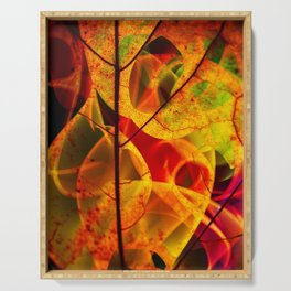 Swirling Autumn Leaves Serving Tray