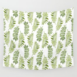 Watercolor hand-painted floral summer exotic tropical leaves seamless pattern Wall Tapestry