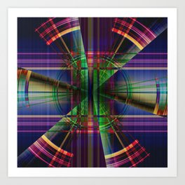 Plaid Movement 001 - Geometric - Unique Plaid - Colorful Plaid - Corbin Henry Art Print