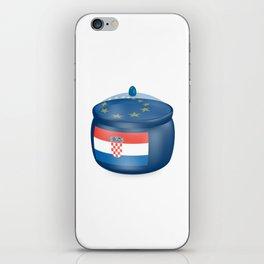 Flag of Croatia. Saucepan with a translucent cover. The symbol of the European Union. iPhone Skin