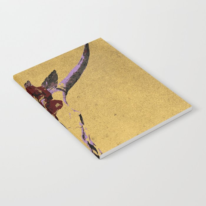 Grunge Animal Skull Notebook