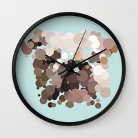 bulldog Wall Clocks featuring Bulldog by Glen Gould