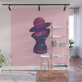 Planet Lady Wall Mural