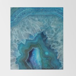 Agate Crystal Slice Throw Blanket