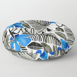 Killin' It – Tropical Blue Floor Pillow