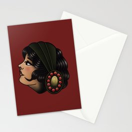 OLD SCHOOL GIRL Stationery Cards