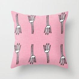 Skeletal Hand Pink #Halloween Throw Pillow