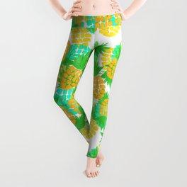 Watercolor Pineapples Tropic Leggings