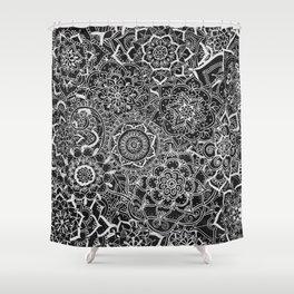 Delicate Lace Mandala Pattern Shower Curtain