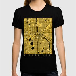 Minneapolis map yellow T-shirt
