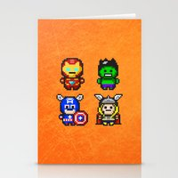 superhero Stationery Cards featuring Superhero Gathering by Daizy Jain