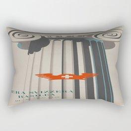 Vintage poster - Fiera Svizzera Basilea Rectangular Pillow