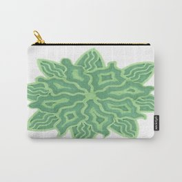 Emerald Flower Carry-All Pouch