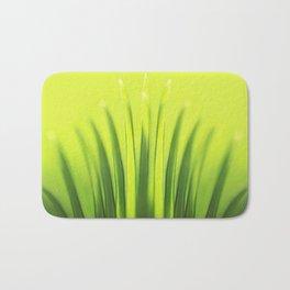 Palm Tree Sunlight Leaf Tropical Summer Green Yellow Hawaii Pattern Bath Mat
